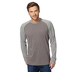 Mantaray - Grey long sleeved raglan top