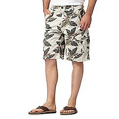 Mantaray - Big and tall natural floral cargo shorts