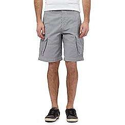 Mantaray - Big and tall grey striped cargo shorts