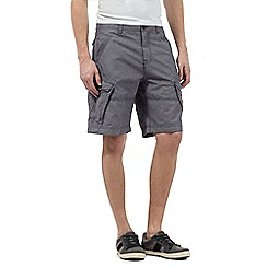 Mantaray - Big and tall blue chambray cargo shorts