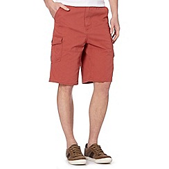Mantaray - Big and tall dark orange cargo shorts
