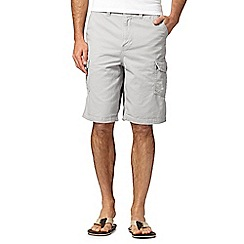 Mantaray - Light grey plain cargo shorts