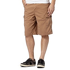 Mantaray - Big and tall dark tan cargo shorts