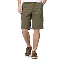 Mantaray - Big and tall khaki plain cargo shorts