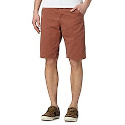 Mantaray - Big and tall dark orange twill chino shorts