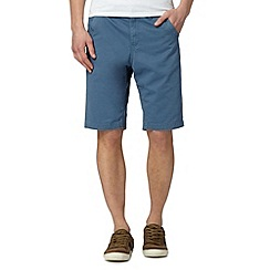 Mantaray - Blue twill chino shorts