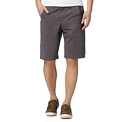 Mantaray - Dark grey twill chino shorts