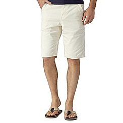 Mantaray - Big and tall off white chino shorts