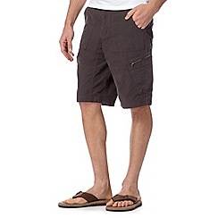 Mantaray - Big and tall dark grey walking shorts