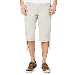 Mantaray - Big and tall natural three quarter length shorts