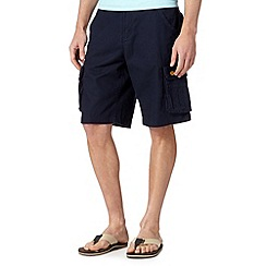 Mantaray - Navy linen cotton cargo shorts