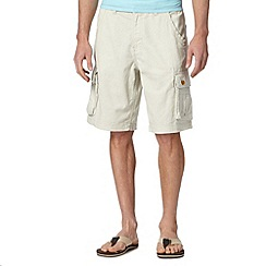 Mantaray - Natural linen cotton cargo shorts