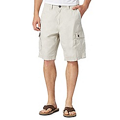 Mantaray - Big and tall natural poplin cargo shorts