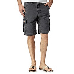 Mantaray - Dark grey belted cargo shorts