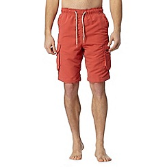 Mantaray - Orange cargo swim shorts