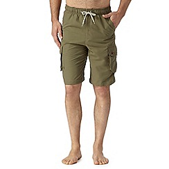 Mantaray - Khaki cargo swim shorts