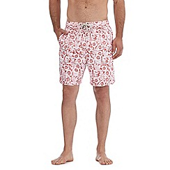 Mantaray - Red hibiscus swim shorts