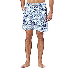Mantaray - Blue floral print swim shorts