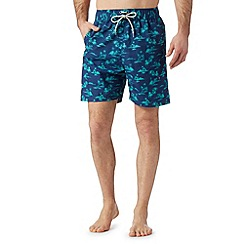 Mantaray - Blue palm printed swim shorts