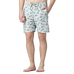 Mantaray - Off white palm island swim shorts