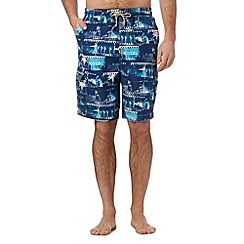 Mantaray - Navy photo cargo swim shorts