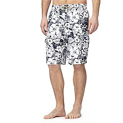 Mantaray - Navy floral cargo swim shorts