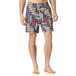 Mantaray - Big and tall navy surf board print swim shorts