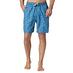 Mantaray - Blue van print swim shorts