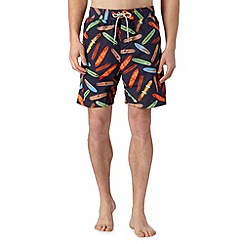 Mantaray - Big and tall navy mini surfboard swim shorts