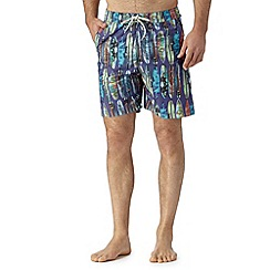 Mantaray - Big and tall purple photographic surfboards swim shorts