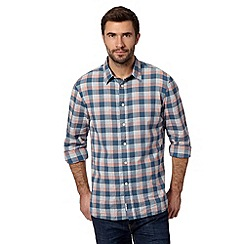 Mantaray - Big and tall blue checked chambray shirt