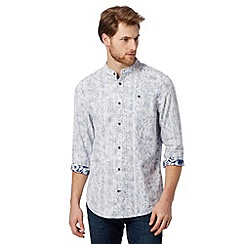 Mantaray - Big and tall navy textured floral shirt