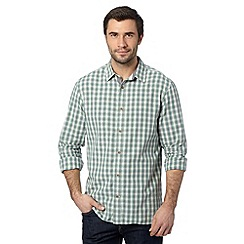 Mantaray - Green mini checked shirt