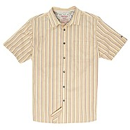 Mantaray Yellow textured stripe shirt