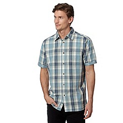 Mantaray - Turquoise woven checked shirt