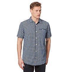 Mantaray - Big and tall blue gingham shirt
