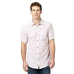 Mantaray - Big and tall wine short sleeved spotted wave print shirt