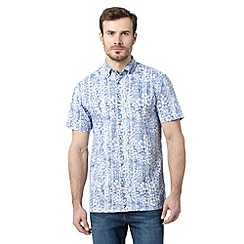 Mantaray - Big and tall navy watercolour floral shirt