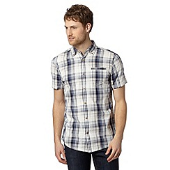 Mantaray - Big and tall blue textured checked shirt