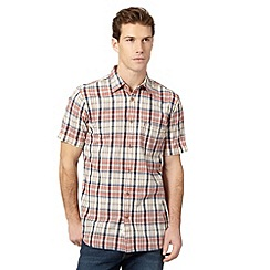 Mantaray - Big and tall red checked pocket shirt