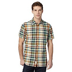 Mantaray - Big and tall green checked short sleeve shirt
