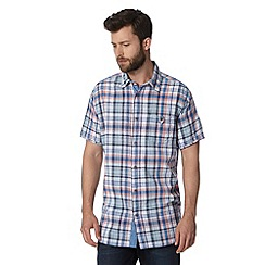 Mantaray - Big and tall blue highlighted check shirt