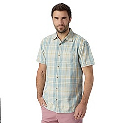 Mantaray - Big and tall blue checked short sleeved shirt