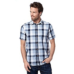 Mantaray - Blue gingham checked shirt