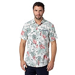 Mantaray - Big and tall cream short sleeved floral shirt
