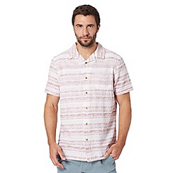 Mantaray - Red diamond striped short sleeved shirt