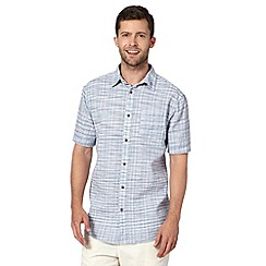 Mantaray - Blue striped pocket short sleeved shirt