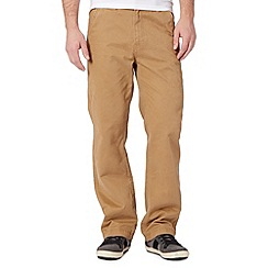 Mantaray - Big and tall tan classic chinos
