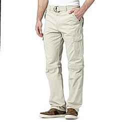 Mantaray - Big and tall beige cargo trousers