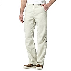 Mantaray - Beige linen blend trousers